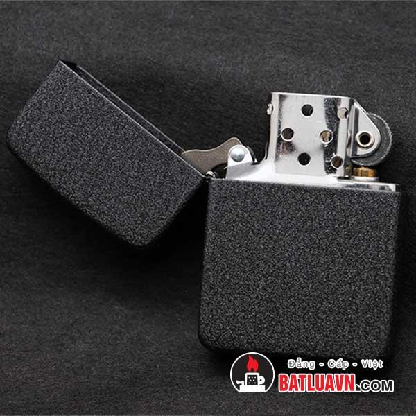 Zippo 1941 replica black crackle lighter - 28582 3