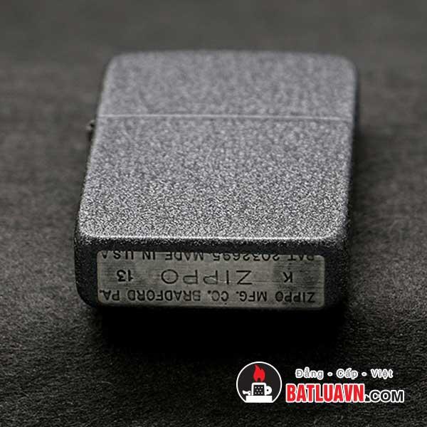 Zippo 1941 replica black crackle lighter - 28582 4