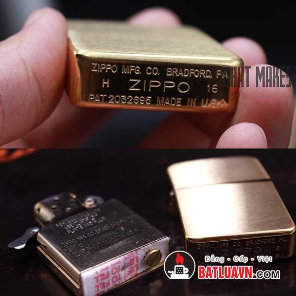 Zippo 1941 replica brushed brass - 1941b 4