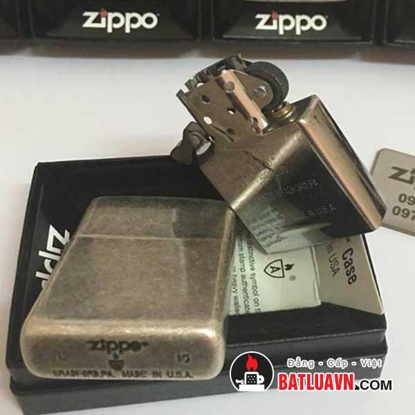 Zippo armor antique silver plate - 28973 4