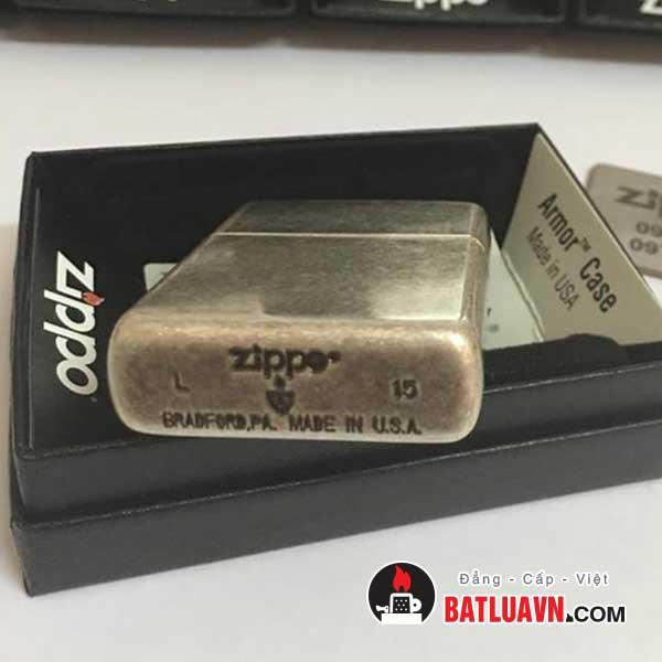 Zippo armor antique silver plate - 28973 5