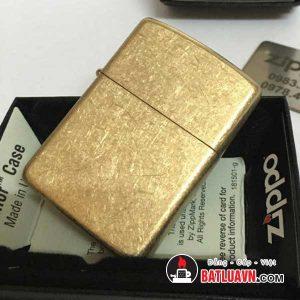 Zippo armor tumbled brass - 28496 2