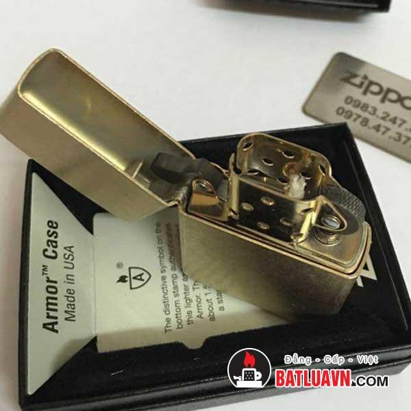 Zippo armor tumbled brass - 28496 4