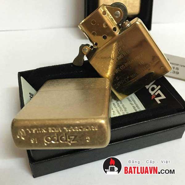 Zippo armor tumbled brass - 28496 5