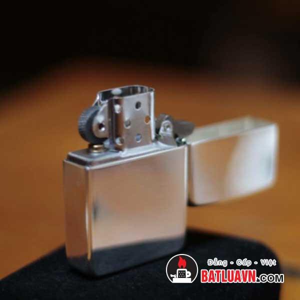 Zippo bạc tái bản nền bóng 1941 replica™ - High polish sterling silver 4