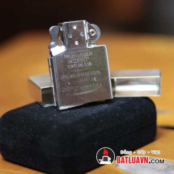 Zippo bạc tái bản nền bóng 1941 replica™ - High polish sterling silver 5