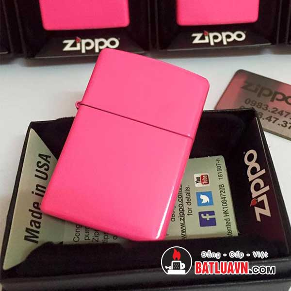 Zippo neon pink matte 2