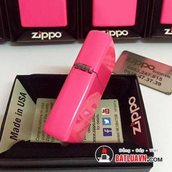 Zippo neon pink matte 3