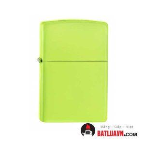 Zippo neon yellow matte 1