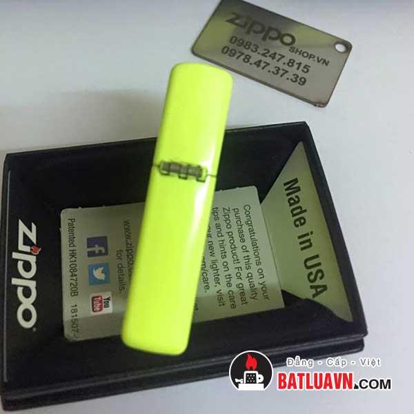 Zippo neon yellow matte 3