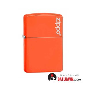Zippo plain with logo neon orange matte - 28888zl