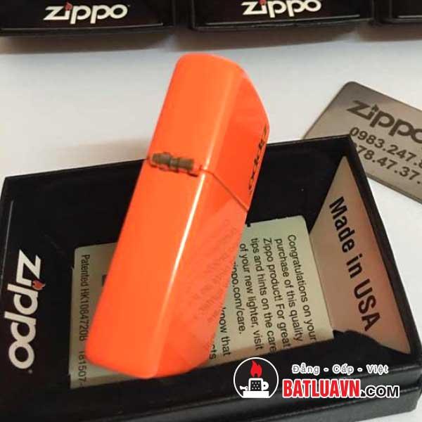 Zippo plain with logo neon orange matte - 28888zl 2