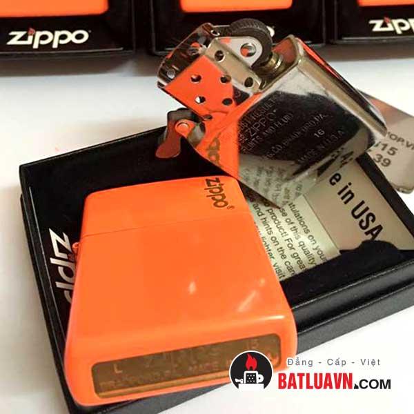Zippo plain with logo neon orange matte - 28888zl 4