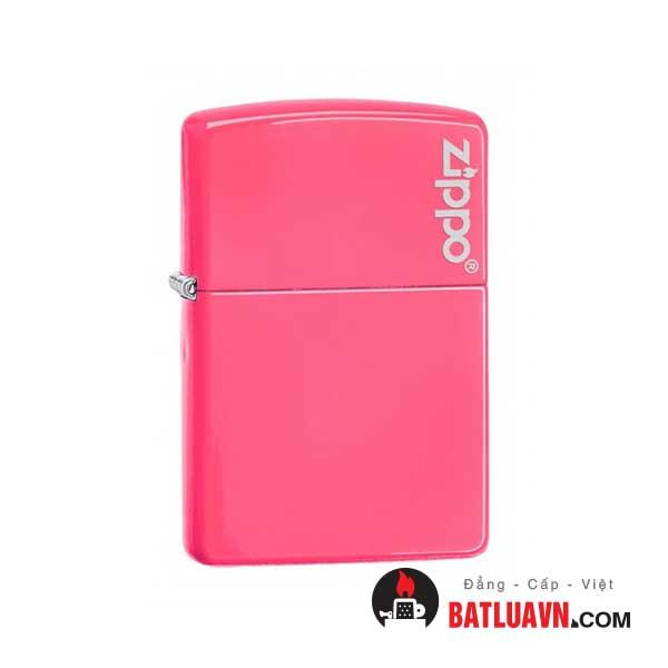 Zippo plain with logo neon pink matte - 28886zl