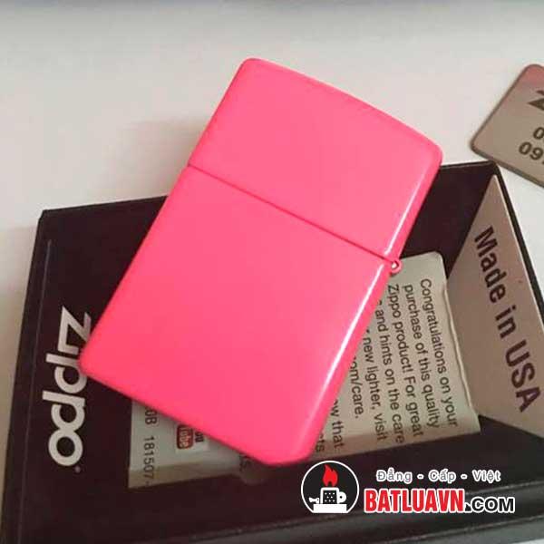 Zippo plain with logo neon pink matte - 28886zl 2