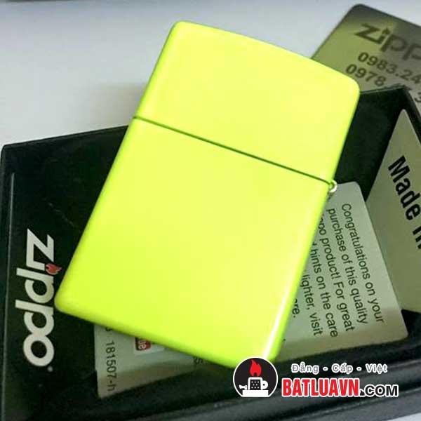 Zippo plain with logo neon yellow matte - 28887zl 2