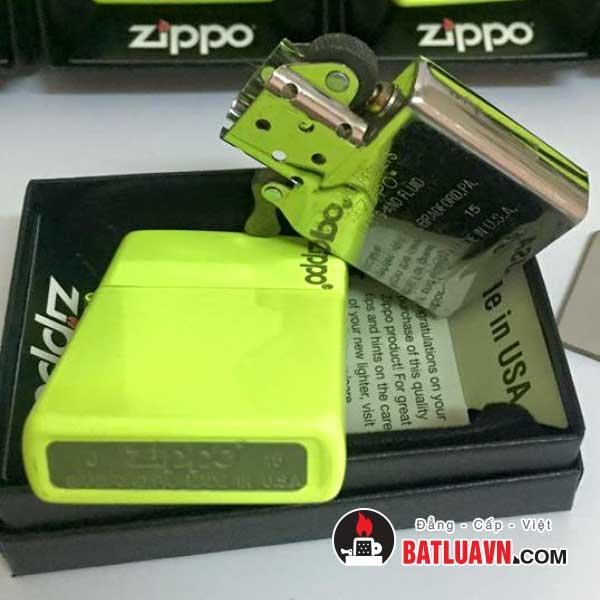 Zippo plain with logo neon yellow matte - 28887zl 3