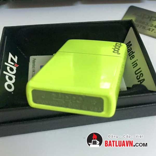 Zippo plain with logo neon yellow matte - 28887zl 4