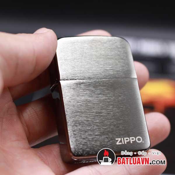 Zippo replica 1941 black ice with zippo logo - 24485 2