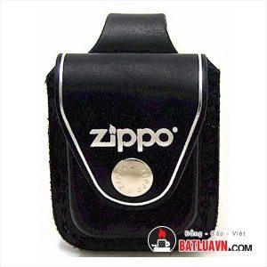 bao da zippo chuyên dụng màu đen