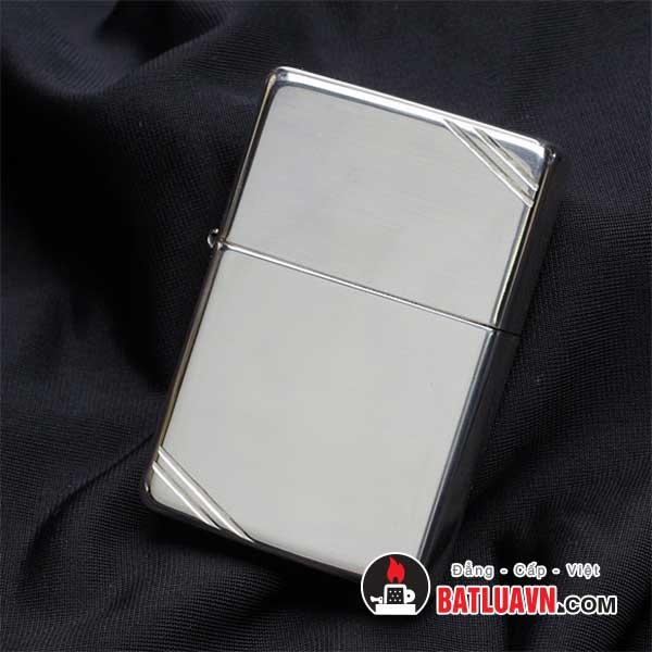 Zippo bạc cổ điển chặt góc - Vintage sterling silver 2