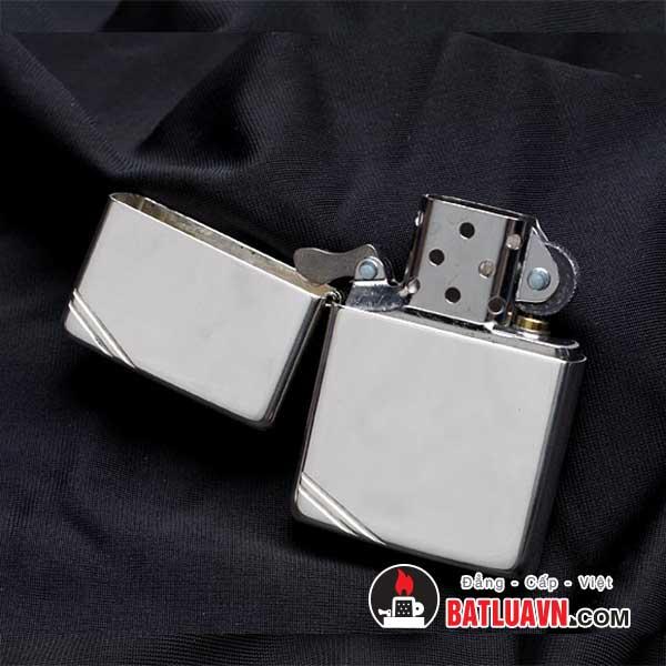 Zippo bạc cổ điển chặt góc - Vintage sterling silver 3