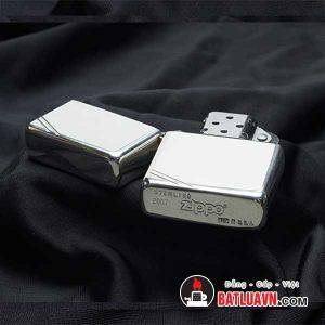 Zippo bạc cổ điển chặt góc - Vintage sterling silver 4