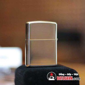 Zippo bạc vỏ dày nền bóng - Armor brushed sterling silver 2