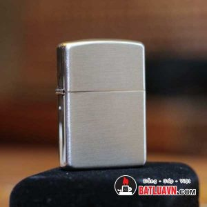 Zippo bạc vỏ dày nền xước - Armor brushed sterling silver 2