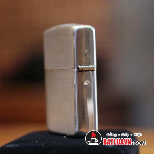 Zippo bạc vỏ dày nền xước - Armor brushed sterling silver 3